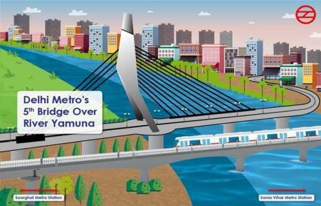 डीएमआरसी ने यमुना नदी पर 5वें पुल का निर्माण कार्य शुरू किया
