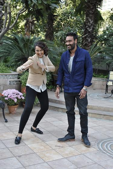 Ajay Devgan & Sonakshi Sinha promoted their film Action Jackson in New Delhi
