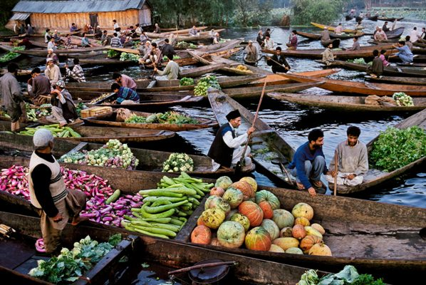 The Floating Vegetable Market at Dal Lake, Kashmir