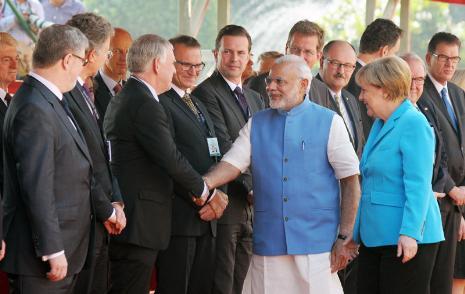 PM engagements with German Chancellor Angela Merkel in Bengaluru