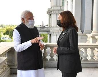 Narendra Modi met US Vice President Kamala Harris