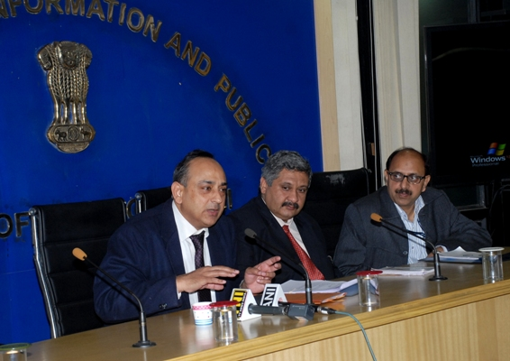 Arvind Ray addressing a press conference