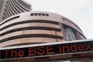 Sensex down 75 pts despite positive economic data