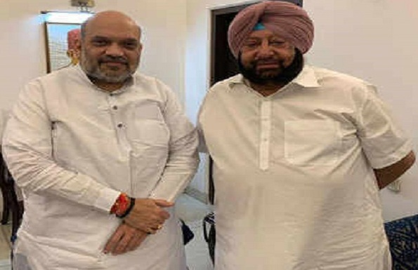 Captain Meet with  Amit Shah
